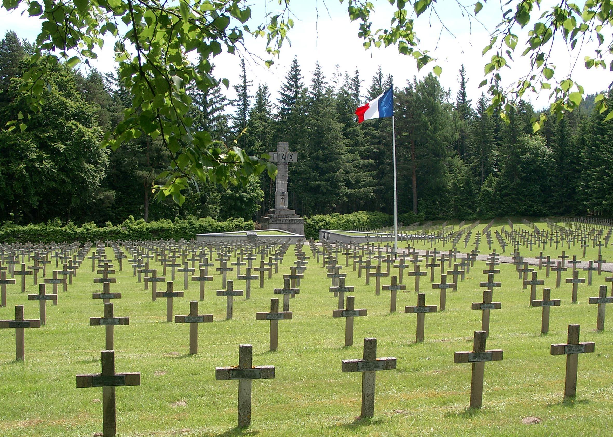 """Französischer Friedhof Orbey """"Le Wettstein"""""""