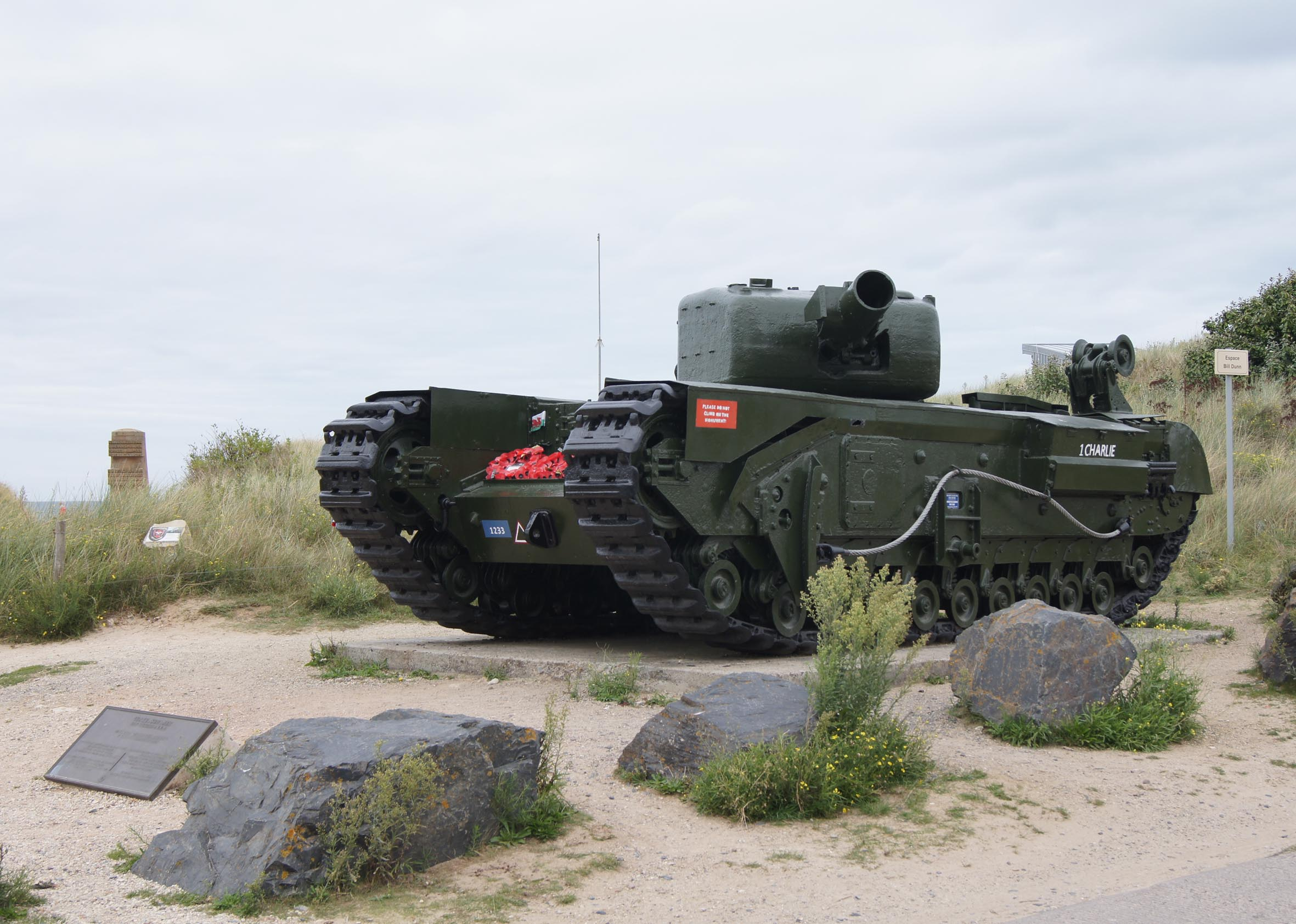 Churchill AVRE Panzer am Gold-Beach