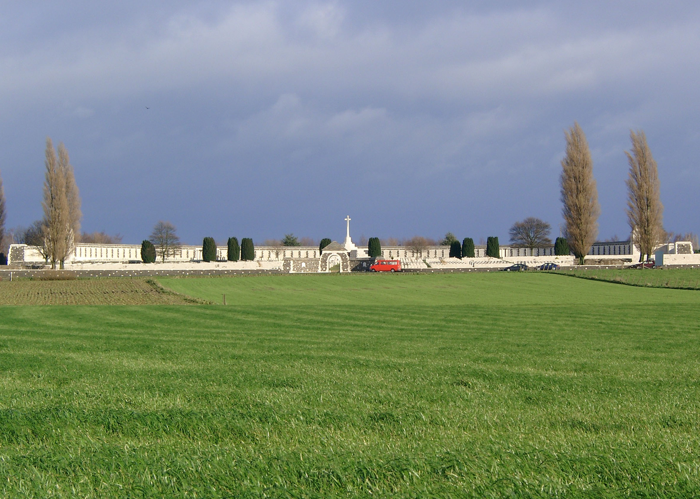 Britischer Kriegsgräberstätte Tyne Cot