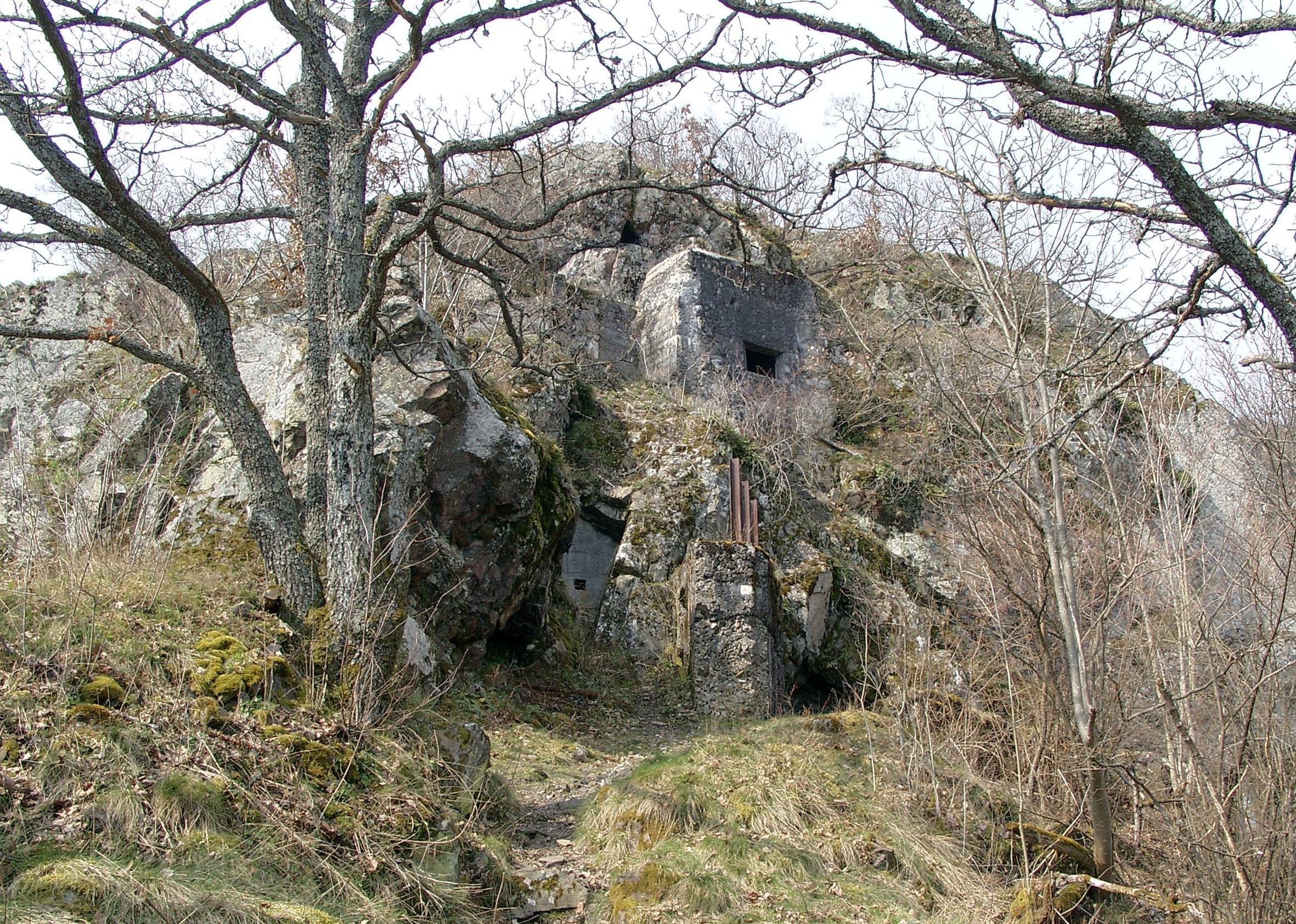 Deutsche Befestigungen am unteren Rehfelsen am Hartmannsweilerkopf