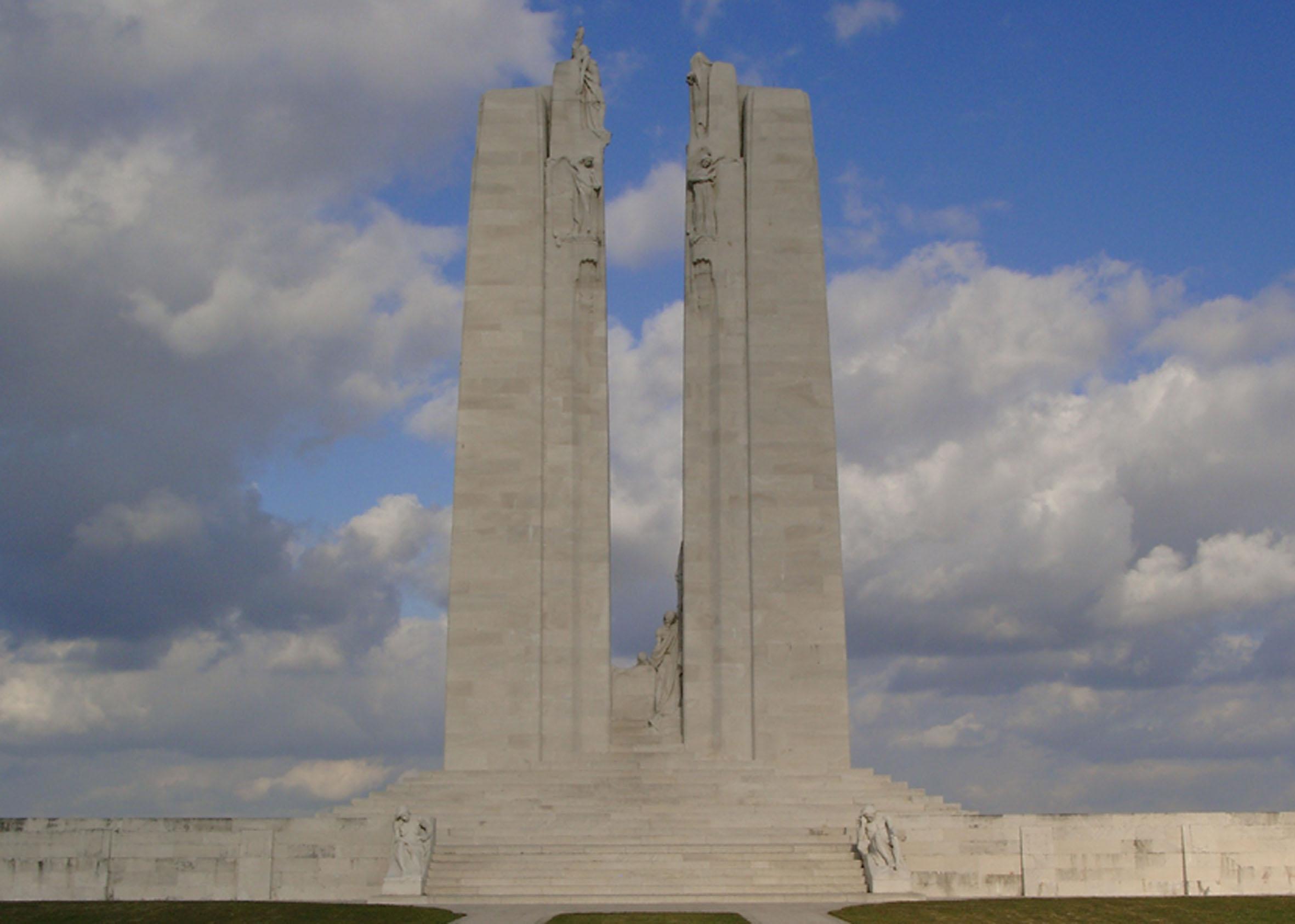 Kanadisches Monument auf der Vimy-Höhe