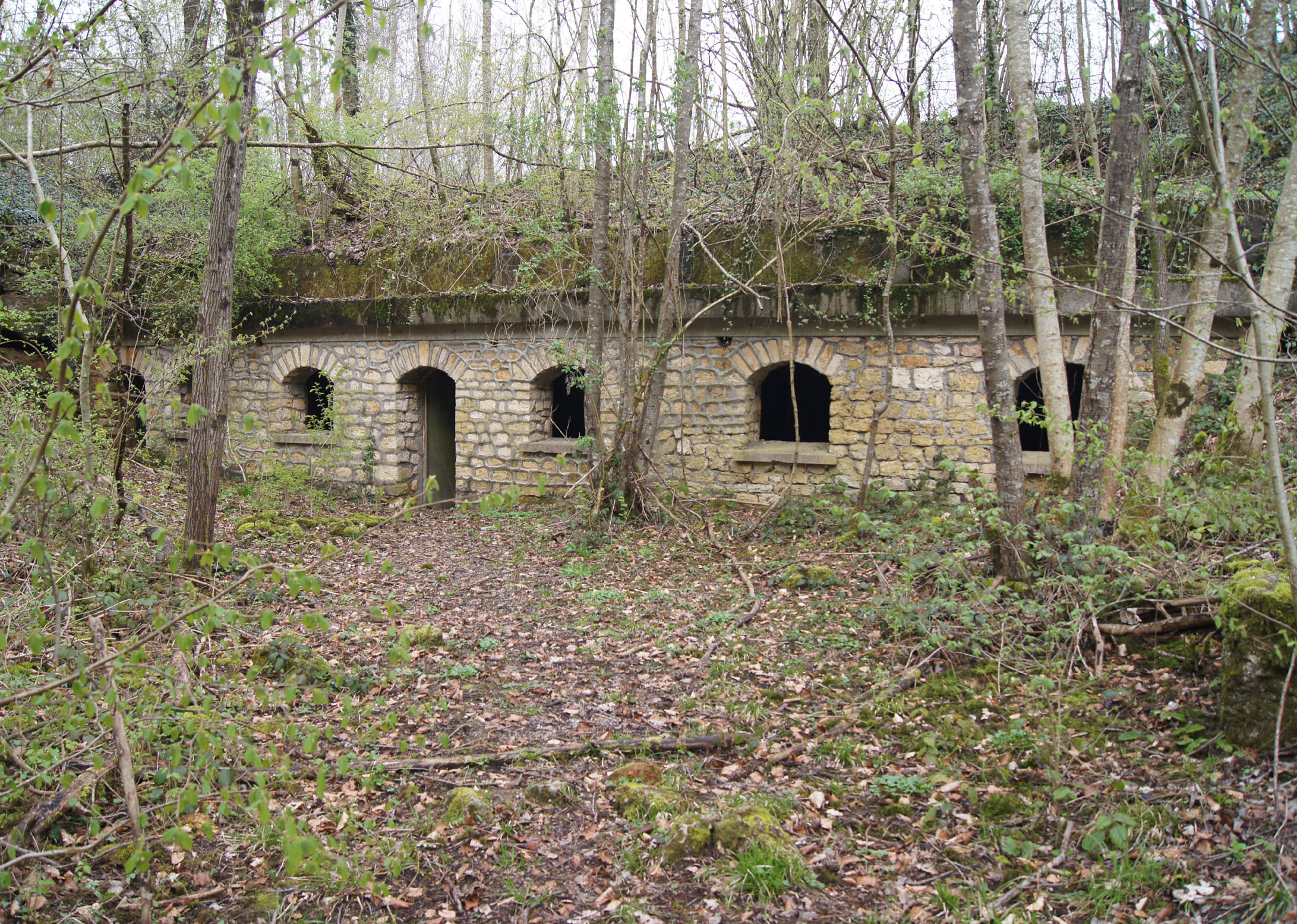 Befehlsstand des französischen Generals Lafontaine im Waldgebiet Fond Dagot
