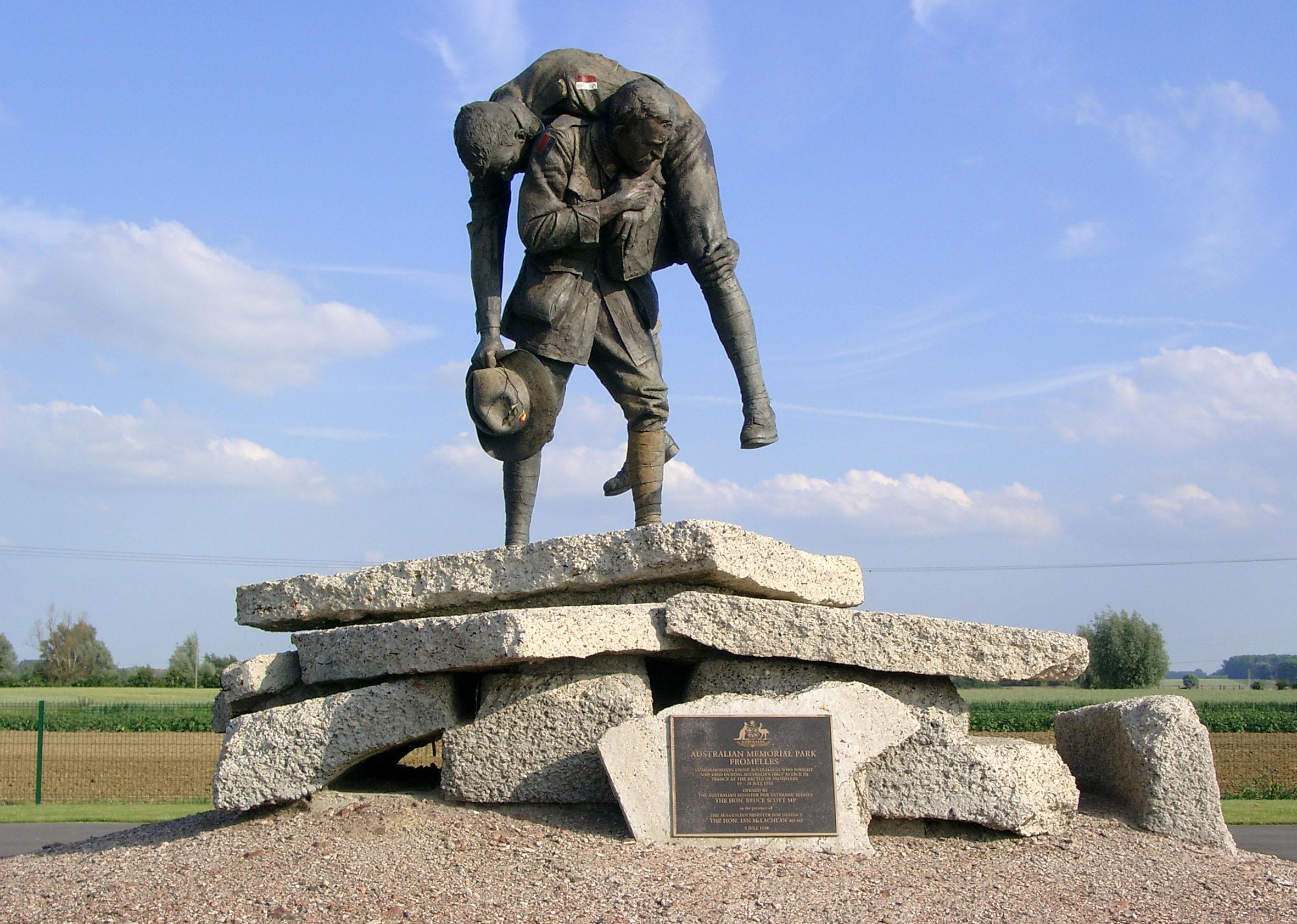 Australisches Denkmal bei Fromelles im Bereich der ehemaligen Frontlinie