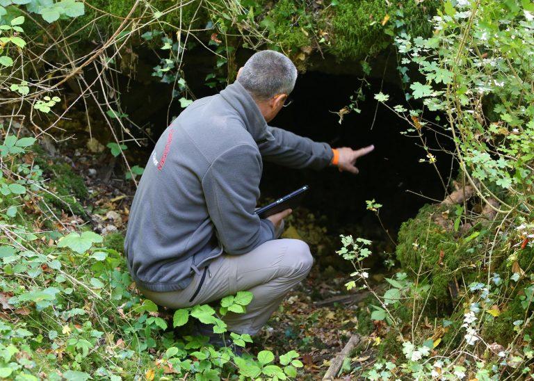 Beschreibung eines deutschen Bunkers im Inneren des Forges-Wald