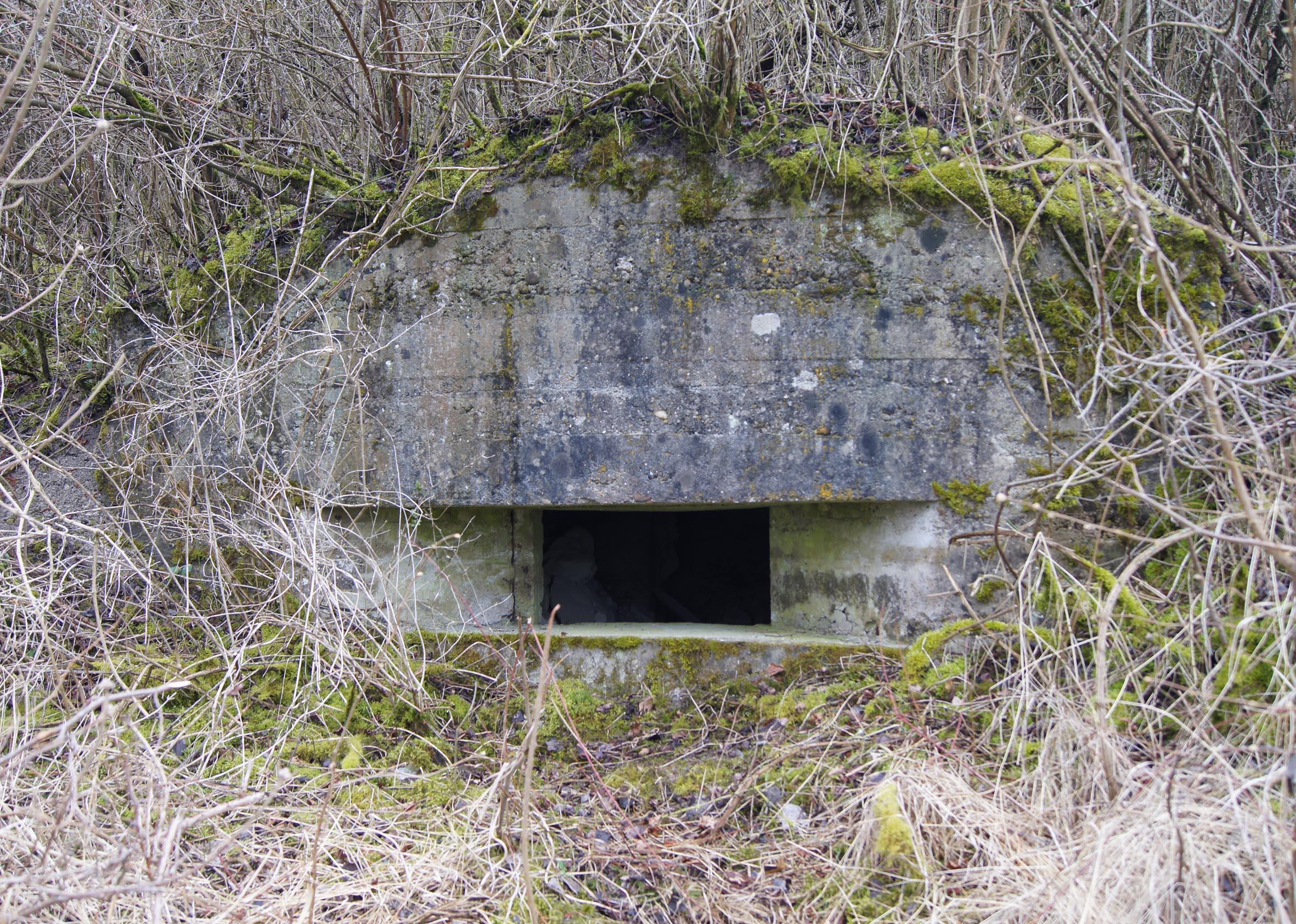 Betonierter MG-Bunker oder Beobachtungsstand am Kanonenberg