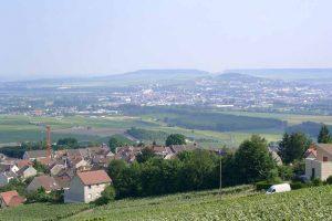 Blick über das Tal der Marne bei Epernay